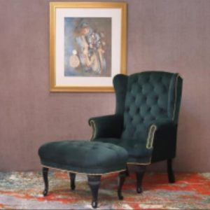 Wing Chairs with Footrest
